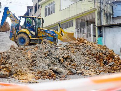 Obra na rua Vicente Leporace é prorrogada por mais 10 dias